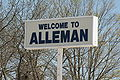 Alleman Iowa 20090503 Sign.JPG