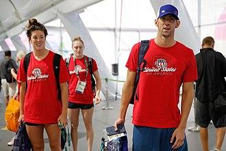 Allison Schmitt - Schmitt(left) and Michael Phelps (right) in Rio 2016