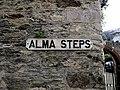 Alma Steps Sign, Kingswear.jpg