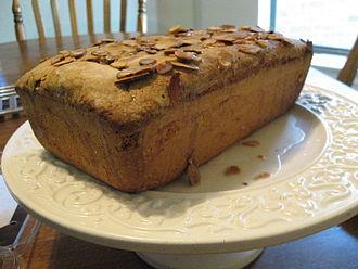 Pound cake - Image: Almond pound cake, angled profile