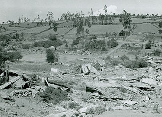 1949 Ambato earthquake - The ruins of homes in Pelileo after the earthquake