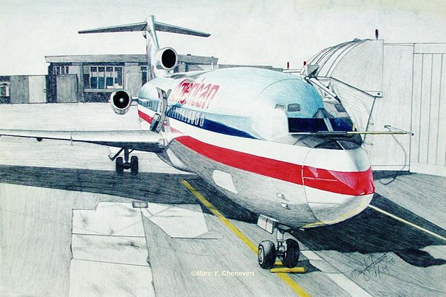 File American Airlines 727 At Gate 10 Washington National