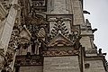 Amiens - Impasse Joron - View SSW & Up - Rich variety of Gargoyles, Pinnacles & Saints on the North Front Tower of Amiens Cathedral I.jpg