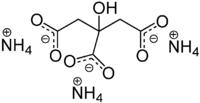 Struktur von Ammoniumcitrat