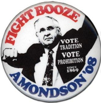 Gene Amondson - 2008 campaign button.