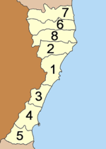 Mapa da Provincia cos Distritos