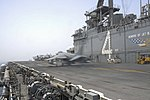 An AV-8B Harrier II launches from USS Boxer. (27815003385).jpg