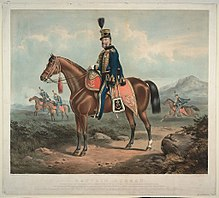 Painting of a yeomanry officer in 1834