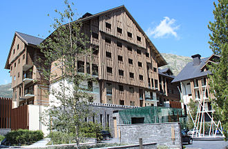 Andermatt - The new Chedi Andermatt 5 star hotel (opened 2013)