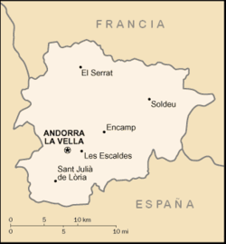 Mapa de Andorra