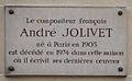 André Jolivet plaque - 59 rue de Varenne, Paris 7.jpg