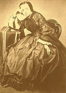 André Léo en la década de 1860.