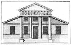 Típica estructura palladiana.