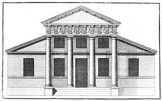 Style of architecture derived from the work of Venetian Andrea Palladio