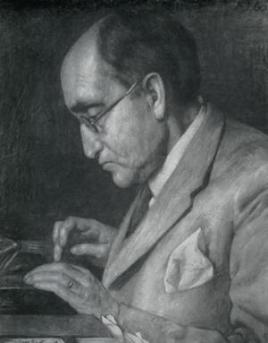 Andreas Latzko - 1936 lithograph of Latzko by Georg Rueter