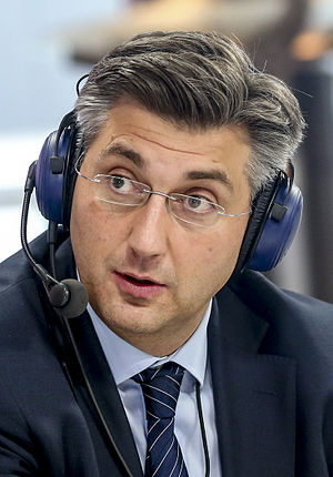 European Parliament election, 2014 (Croatia) - Image: Andrej Plenković 2015 (cropped)