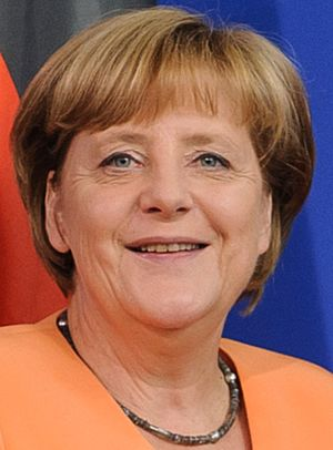 German federal election, 2013 - Image: Angela Merkel 2013 (cropped)