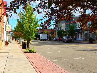 Angola, New York - Main Street (Erie County Route9) through downtown Angola