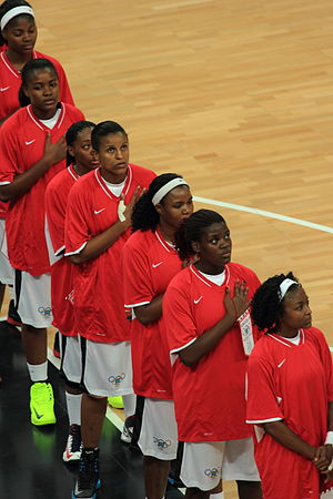 Angola at the 2012 Summer Olympics - Women's basketball team before their game against Croatia