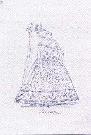 Anna Maria Strada - Caricature of Anna Strada Antonio Maria Zanetti