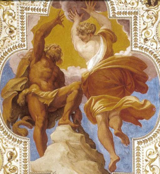 Annibale Carracci Ercole guidato dalla Virtù, Palazzo Sampieri Bologna