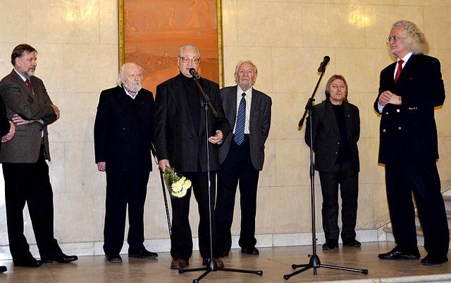 Открытие юбилейной выставки Гавриила Ващенко в Национальном художественном музее Беларуси 12 декабря 2013 г.
