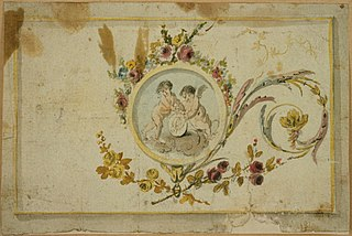 Design for a decorative panel with medallion