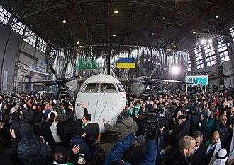 Economy of Saudi Arabia - Antonov/Taqnia An-132 roll out ceremony in Kiev, Ukraine, in December 2016