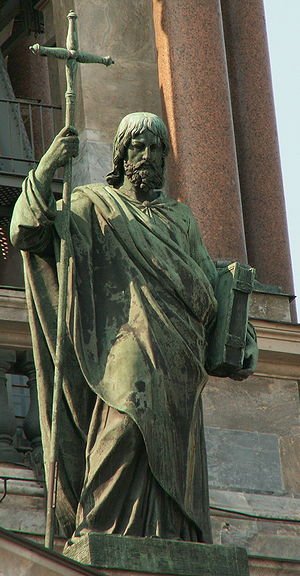 Statue of Apostle Philip on Saint Isaac's cath...
