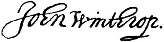 John Winthrop the Younger - Image: Appletons' Winthrop John John signature
