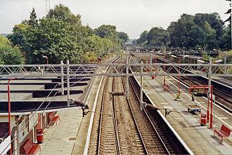 Apsley railway station - Platform view (1991)