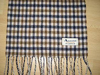 Aquascutum - An Aquascutum scarf, showing the Club Check colours