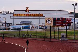 Arcadia High School (California) - The gym at Arcadia High School.