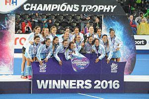Argentina women's national field hockey team - Champions Trophy winners in 2016