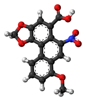 Ball-and-stick model of the aristolochic acid ...