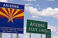 Arizona - Sign - Arizona State Line - Flag Of Arizona (4893543506).jpg