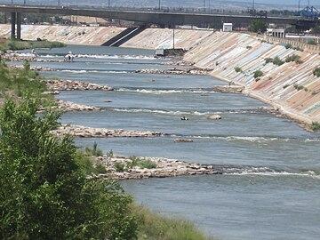 Arkansas River in downtown Pueblo, CO IMG 5116