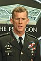 Army Maj. Gen. Stanley A. McChrystal briefs reporters on the overnight progress of Operation Iraqi Freedom.jpg