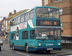 Arriva Buses Wales - Alexander ALX400 bodied DAF DB250 in Rhyl in March 2012