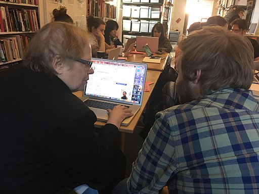 Art+Feminism Edit-a-thon at Interference Archive 03