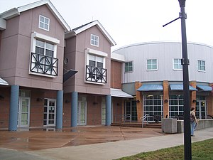 Flyer Enterprises - The circular building on the right is the ArtStreet Cafe, a Flyer Enterprises operation at the University of Dayton. The units on the left are housing units that are part of ArtStreet.
