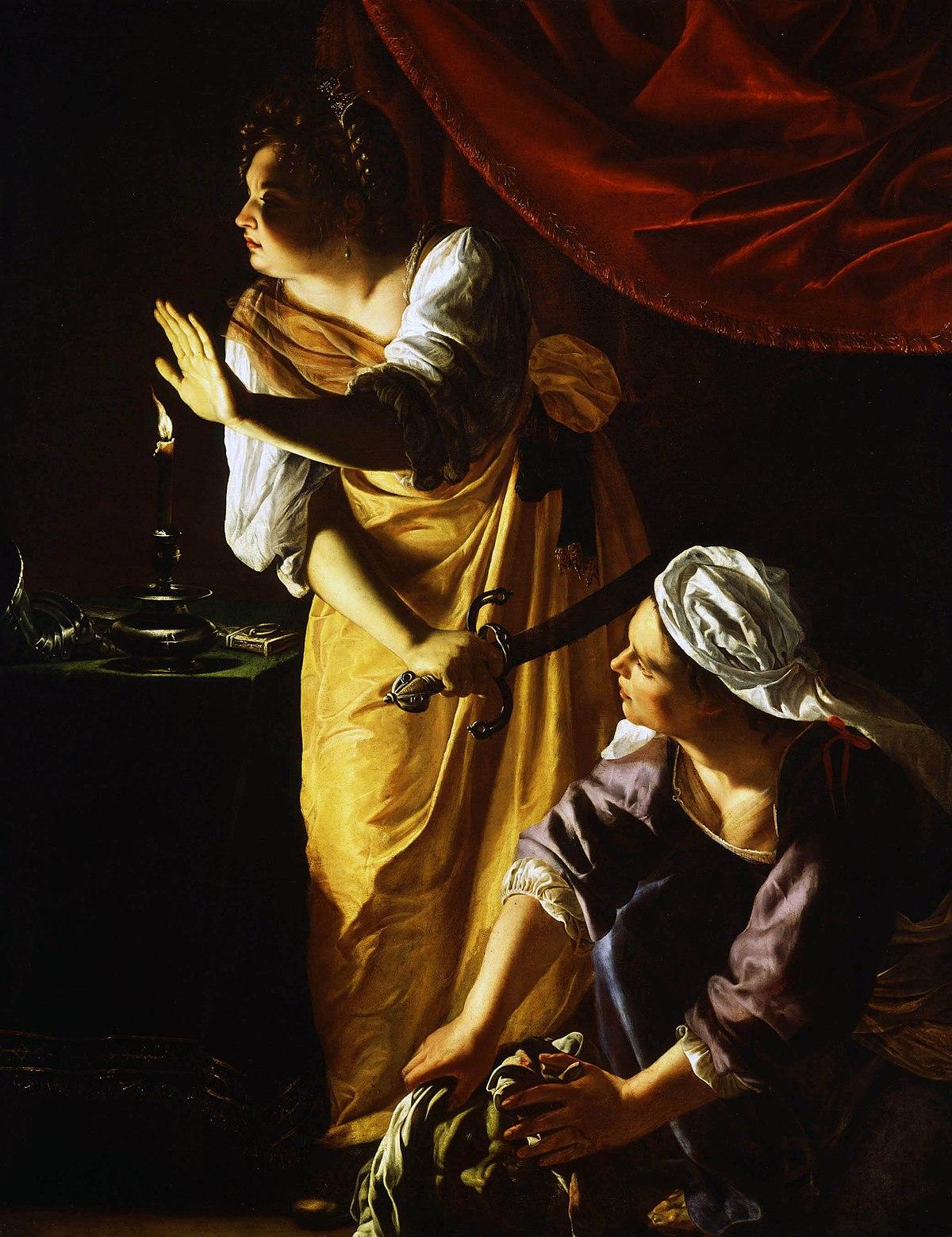 Giuditta con la sua ancella (Artemisia Gentileschi Detroit ...