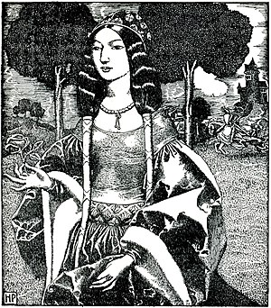Guinevere - The Lady Guinevere by Howard Pyle; from The Story of King Arthur and His Knights (1903)