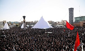 Ashura - Ashura mourning in Imam Hossein Square, Tehran, 2016