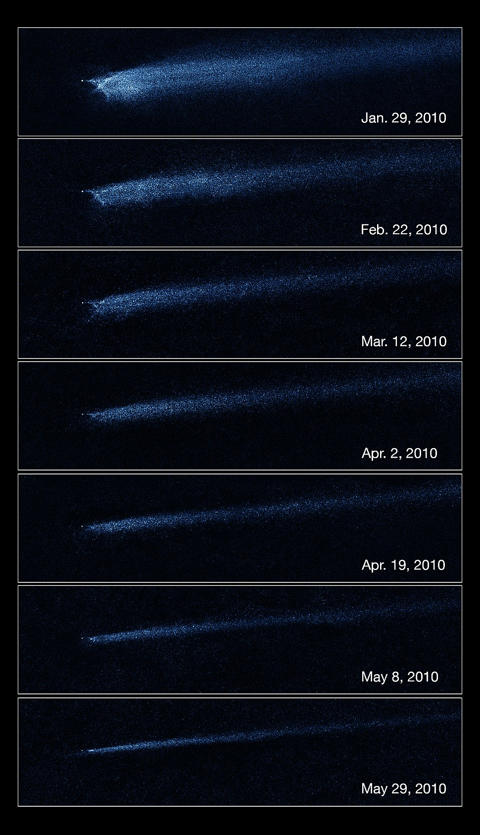 Asteroid Collision Hubble
