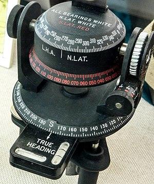Astrocompass - World War II Astrocompass dials and adjustments
