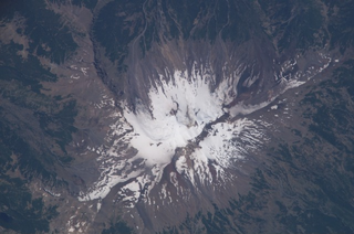 Copahue stratovolcano nestled on the border between Argentina and Chile