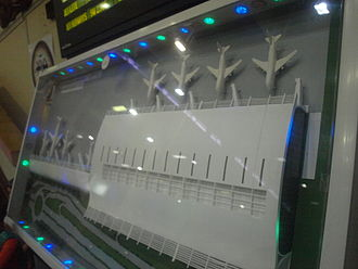 Goa International Airport - Model of the new integrated terminal building on display