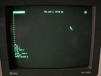AT&T Unix PC - Image: Att pc 7300 terminal