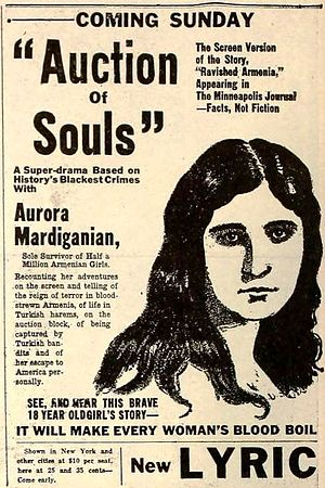 Ravished Armenia (film) - Image: Auction of Souls (1919) Ad 4